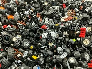 LEGO Wheels - 1Kg / 1000g of LEGO Tyres, Wheels and Axels - Technic, City, etc