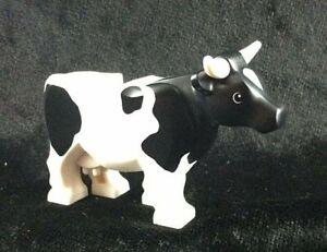 LEGO Rare Retired BLACK & WHITE COW ~ Minifigure Minifig City Farm Animal *NEW*