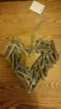 Rustic Twig Heart Wreath, Shabby Chic Wedding Door Decoration,