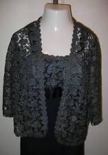 NEW ULLA POPKEN Lace Fantasy Jacket Dress Navy Blue Metallic Gold XL 12 14