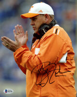 PHILLIP FULMER SIGNED AUTOGRAPHED 8x10 PHOTO TENNESSEE VOLS FOOTBALL BECKETT BAS