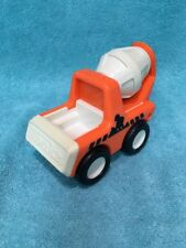 Vintage 1987 Tonka Toy Cement Truck Orange and White Rattle Plastic Toddler Toy