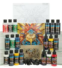 4969-A Gerald Mendez Art Studio Color Set airbrush paint + step-by-step stencil