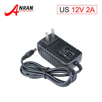 DC 12V 2A Power Supply Plug for CCTV Security Camera AC 110-240V Adapter US