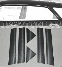 05-10 CHRYSLER 300/300C PRECUT VINYL BLACK CARBON FILM PILLAR POST TRIM COVER