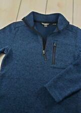 """Mint"" $89 ROYAL ROBBINS Longs Peak 1/4 Zip Fleece Pullover Blue Mens Medium F39"