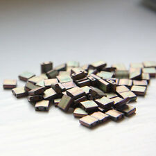 10 Grams Miyuki Tila Beads-Khaki Matte Metallic Iris (TL2035)