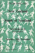 More details for south of scotland v new zealand 28 nov 1953 galashiels rugby programme