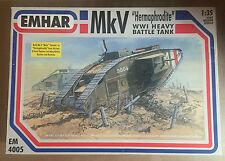 """EMHAR EM 4005 - 1/35 Mk.V """"HERMAPHRODITE"""" WWI HEAVY BATTLE TANK - NUOVO"""