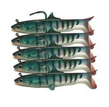5Pcs Jig Head Fishing Soft Baits Jigging Soft Silicone Wobbler Carp Bass 0.92oz