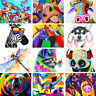 DIY Paint By Number Kit Digital Oil Painting Colorful Animals Home Artwork Decor