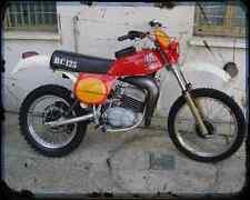 APRILIA RC 125 02 A4 metal sign moto Vintage Aged