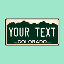 "Colorado Personalized License Plate ""Any Text"" Auto Tag with aluminum frame"