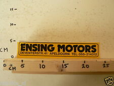 STICKER,DECAL ENSING MOTORS APELDOORN 25CM MOTO ?  LARGE