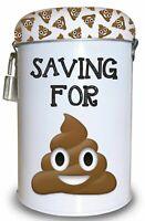 Saving for Sh*t Fund Tin - Fun Money Box With Padlock And Key