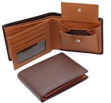 RFID BLOCKING Starhide Men Brown Tan Leather Wallet With ID And Coin Pocket 1216