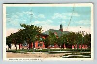 Aberdeen SD, Washington High School, Vintage South Dakota Postcard Z25
