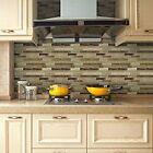 Wall Sticker Home Decor Backsplash Wallpaper Bathroom Kitchen Diy Plain