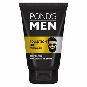 Pond's Men Pollution Out Activated Charcoal Deep Clean Facewash, 100gm Free Ship