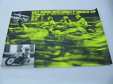 Original 1975 Harley Davidson Race Poster Louisville Jay Springsteen