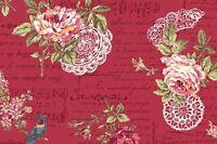 Cottage Shabby Chic Quilt Gate RURU Bouquet Cotton Fab RU2200Y-14E Rosette BTY