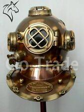 Antique Black Boston Diving Divers Helmet - Deep Scuba Boston Divers Navy Mark