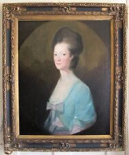 Antique Oil Portrait Painting on Canvas after Francis Cotes, 18c