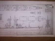 uss truxtun  missile cruiser  ship plan