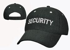 Black Security Uniform Hat Baseball Cap Ballcap Mesh Breathable Rothco 9275