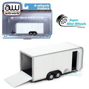 Auto World 1:64 - Enclosed Trailer (White) AWSP072A