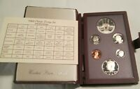 1984 Prestige Proof Set U.S. Mint COA Box 6 coin Olympic Silver Dollar
