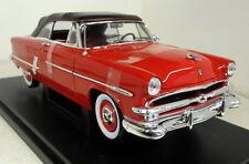 Nex 1/18 escala 1953 Ford Crestline Sunliner Red Diecast Modelo de Coche