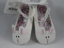 New Tendertoes Infant Girl's Sparkly White Leather BUNNY RABBIT Shoes, Sz 2