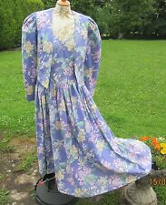 VINTAGE LAURA ASHLEY DRESS & JACKET. GORGEOUS & EXCELLENT CONDITION. SIZE 12.