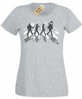 Abbey Road Killers T-Shirt freddie michael jason myers horror Womens Ladies