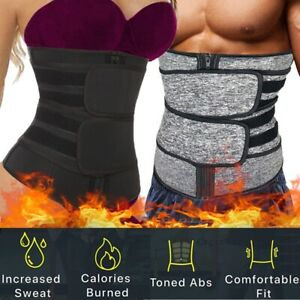Men Abdomen Fat Burning Body Shaper Waist Trainer Sauna Sweat Belt Weight Loss
