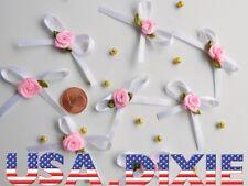 7 noeuds avec fleur rose scrapbooking
