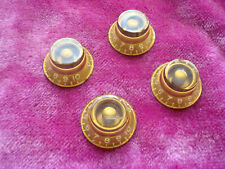 Vintage 1959 Gibson Les Paul Burst Knobs Gold Bonnet 1958 1960 Standard Knob set