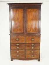 Antique Georgian Mahogany Housekeeper Secretaire Bookcase, Scotland 1780, B1798