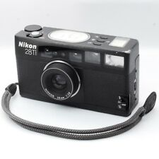 NIKON 28Ti BLACK POINT & SHOOT FILM CAMERA W/ STRAP FROM JAPAN [EXC+++++]