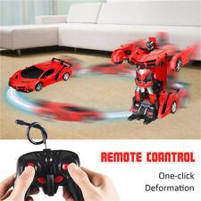 1:18 Transformer Auto Rennauto Roboter mit Fernbedienung Motor Spielzeug Kinder