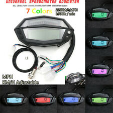 1-5 Gear LCD Display 7-Color Motorcycles Digital Speedometer Tachometer km/h mph