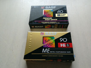 2x BASF Hi8 90 ME u. 8MP 60 Premium Kassette NEU und OVP