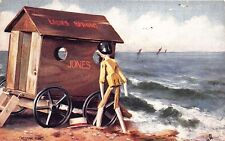 "Raphael Tuck ""At The Seaside, in Dollyland"" Peeping Tom Postcard"