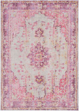 Surya Antioch AIC-2305 2'x3' Rectangle Polyester Bright Pink Area Rug Faded NEW