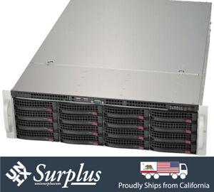 Supermicro 3U 16 Bay 3.5 LFF E-ATX and ATX Storage Chassis 836TQ-R800B Rail CHIA