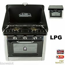 Easy Complete Compact Full LPG Gas Oven Campervan 2 Burners Hob Outdoor Cooker