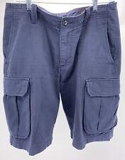 Men's Black Brown 1826 Cargo Shorts Navy Blue Size W34