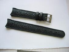 bracelet caoutchouc noir 17, 3 mm plongée diving watch diver strap band N17