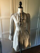 Alice Temperley London Dress Gray Ruffle Babydoll Tunic Designer Target Size 5